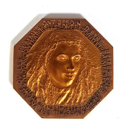 Médaille octogonale en bronze, 1977