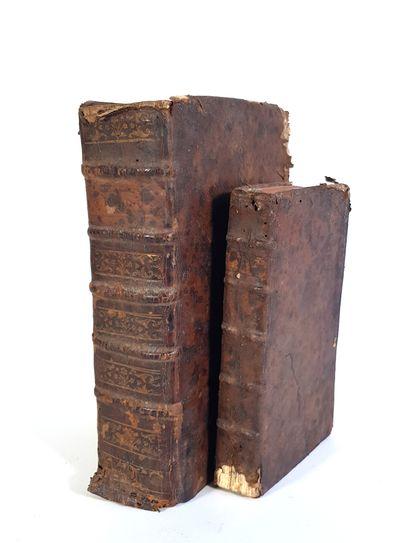 Deux ouvrages reliés en latin -XVIIIe siècle...