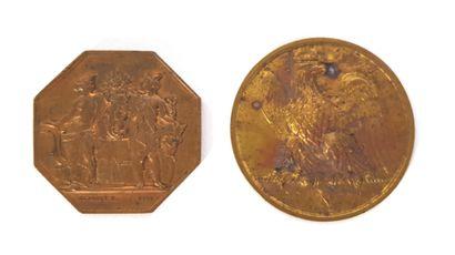 Médaille commémorative Napoléonienne à l'effigie...