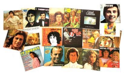 Ensemble de dix-neuf disques vinyles 33T...