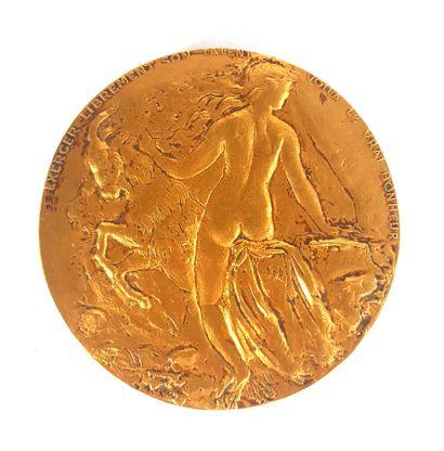 RETMONDO (XXe siècle)  Médaille en bronze...