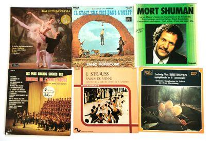 Ensemble de six disques vinyles 33T de musique...