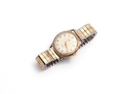 LIP  Montre bracelet d'homme plaqué or à...
