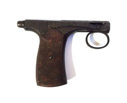 Pistolet type Brun Latrige  L. 12,2 cm  Usures...
