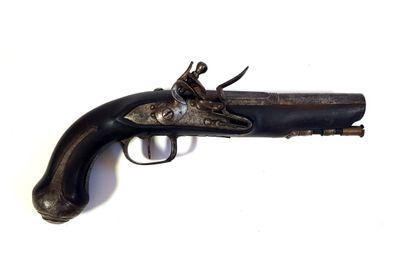 Pistolet à silex  L. 25 cm  Usures  Catégorie...