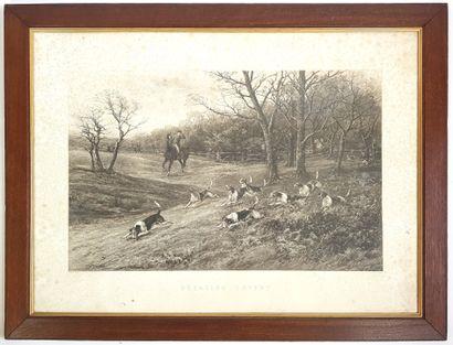 Chasse à courre  D'après Heywood HARDY (1842-1933)...