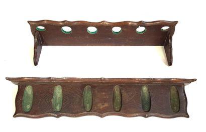 Porte-fusil d'applique en bois naturel à...