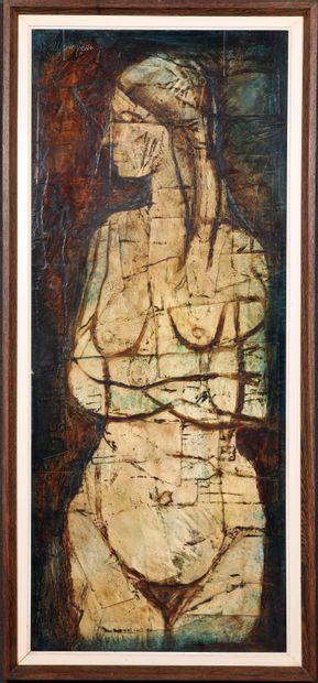 RUDI PILLEN (1931-2014) Femme nue debout,...