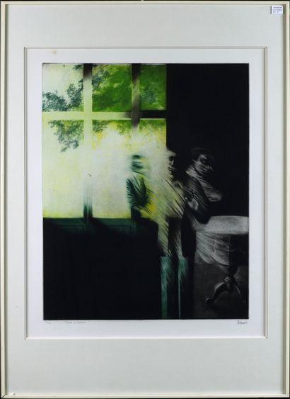 Maurice Pasternak (1946) Fuite V en Torsion Lithographie...