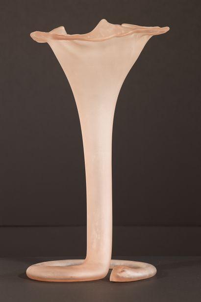 Vase en verre de Tchécoslovaquie. XIXème....