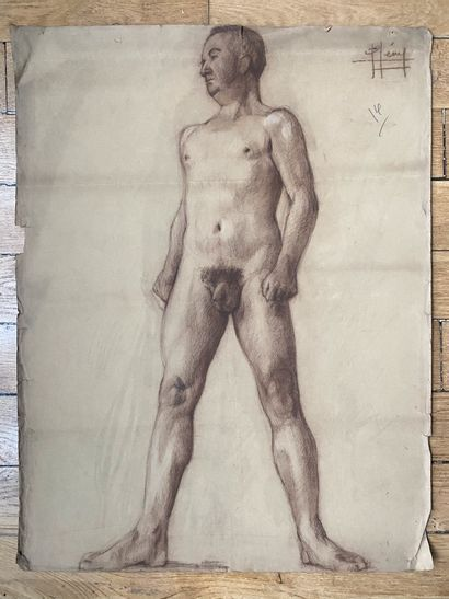 PIERRE LÉVY dit DARDEL (ENG/ 1917-1991) I. Man standing, arms behind his back signed...