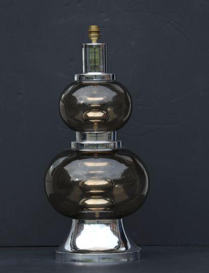 Lampe «space age», composée de deux globes...