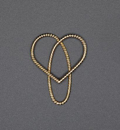 Pince de collier en or jaune 18K en forme...