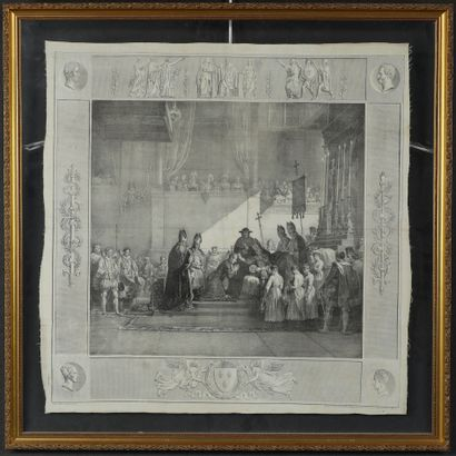 Godefroy Engelmann (1788-1839) The anointing of the coronation of King Charles X....