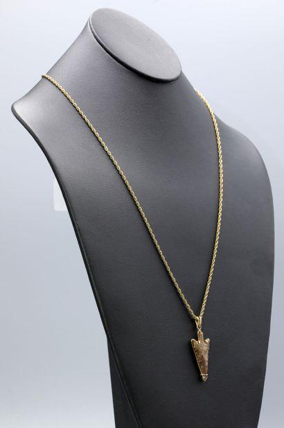 Chaine maille corde en or jaune 18K, longueur...