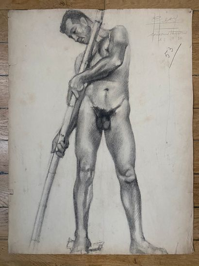 PIERRE LÉVY dit DARDEL (ENG/ 1917-1991) I. Male standing, profile right signed 'P...