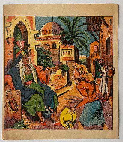 PIERRE LÉVY dit DARDEL (FRA/ 1917-1991)  Ensemble de deux dessins préparatoires,...
