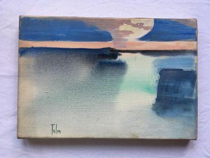 JEANNE RAVEL dite TOLEV (FRA/ 1913-2004) Paysage...