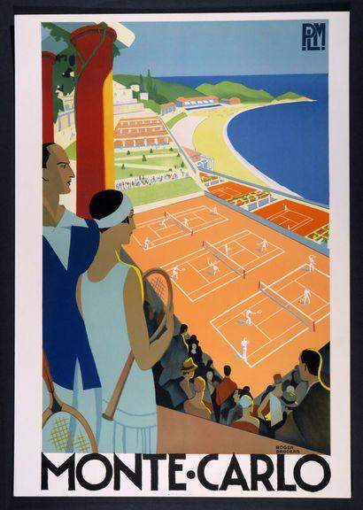 Affiche ressortie en lithographie de Roger...