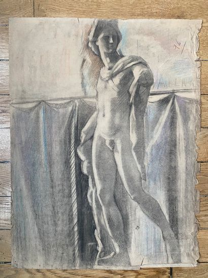 PIERRE LÉVY dit DARDEL (ENG/ 1917-1991) I. Study after the Apollo of the Belvedere Listed...