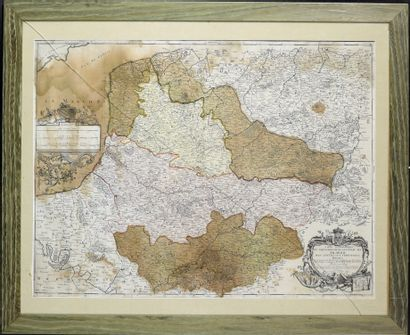 """""""Topographic map / of the General Government of / Picardy / With all the frontiers..."""