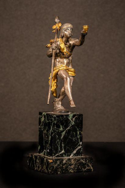 Jeune grecque dansant Sculpture en bronze...