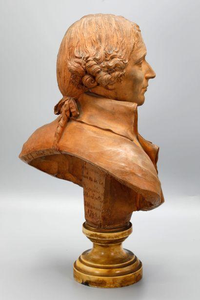 Augustin Pajou (1730-1809)  Portrait, en buste, du marquis Antoine-Louis-Francois...