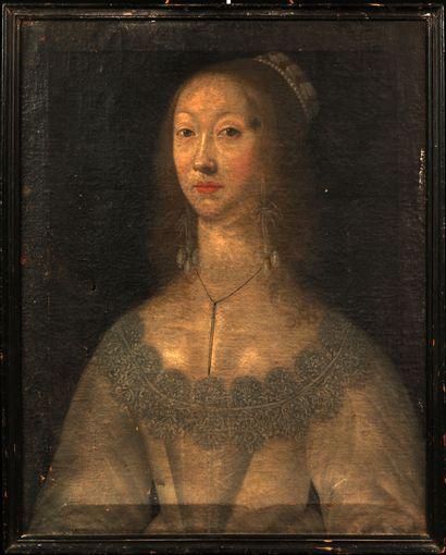 Ecole flamande, vers 1640  Portrait en buste...