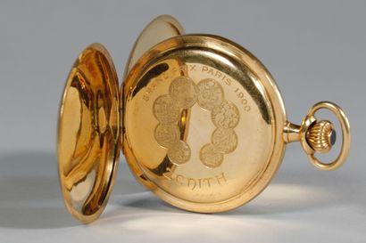 ZENITH. Montre à gousset en or jaune, n° 135133. Poids brut: 90,9 g. Ecrin de la...