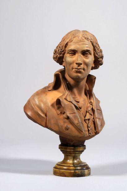Augustin Pajou (1730-1809)  Portrait, en...