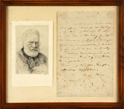 Victor HUGO (1802.1885) Lettre autographe...