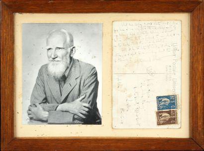 George Bernard SHAW (1856.1950) Carte autographe...