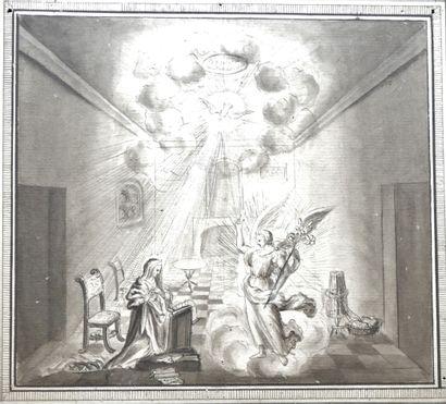 François LEFEBVRE (1747-1817), L'annonciation...