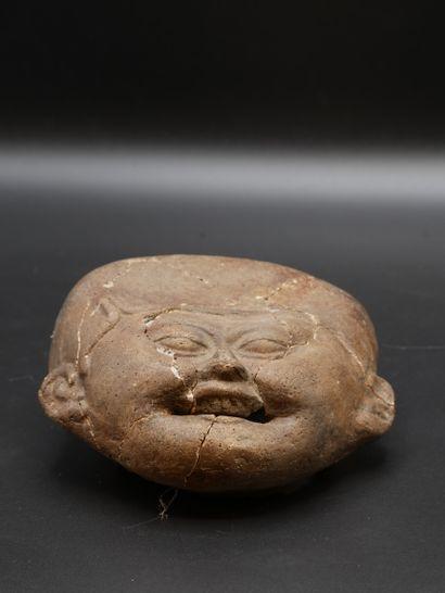 Important masque au visage souriant  Terre...