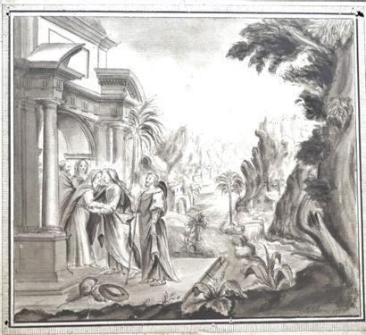 François LEFEBVRE (1747-1817), La rencontre...