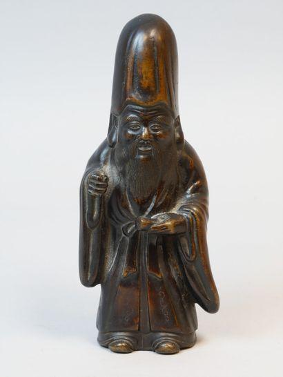 CHINE, XVIIème siècle. Statuette figurant...