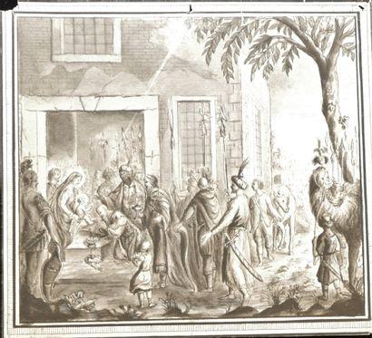 François LEFEBVRE (1747-1817), L'adoration...