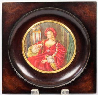 M. RAY.  Portrait de Jeanne d'Aragon d'après...