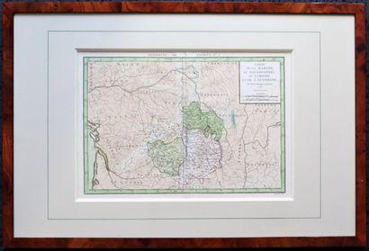 Carte de la Marche, du Bourbonnois, du Limousin...