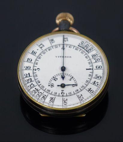 Chronomètre de poche, le cadran marqué vitesse....