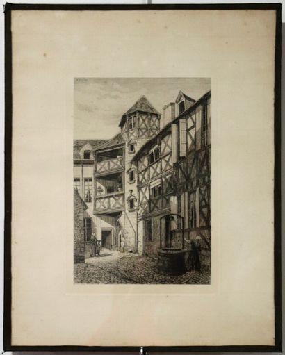 Armand QUEYROY (1830-1893).  Rue des grenouilles...