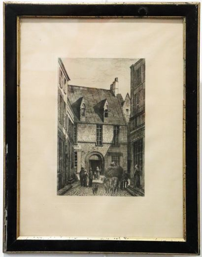 Armand QUEYROY (1830-1893).  Passage Moret...