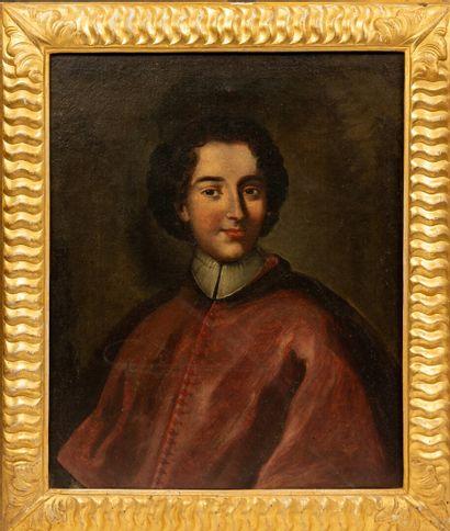 École Italienne du XVIIIème siècle.  Portrait...