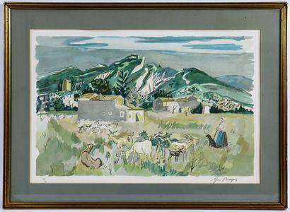 Yves BRAYER (1907-1990)  Les Baux de Provence....