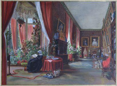 Ecole française du XIXème siècle.  Femme...