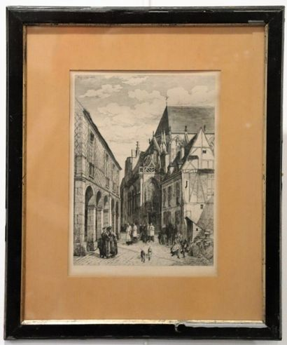 Armand QUEYROY (1830-1893).  Place des Arcades...