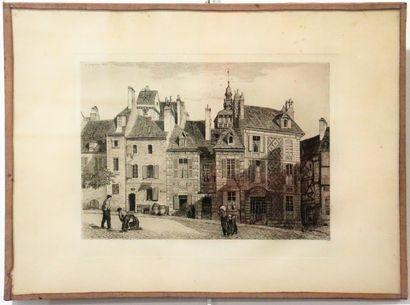 Armand QUEYROY (1830-1893).  Place du Palais...