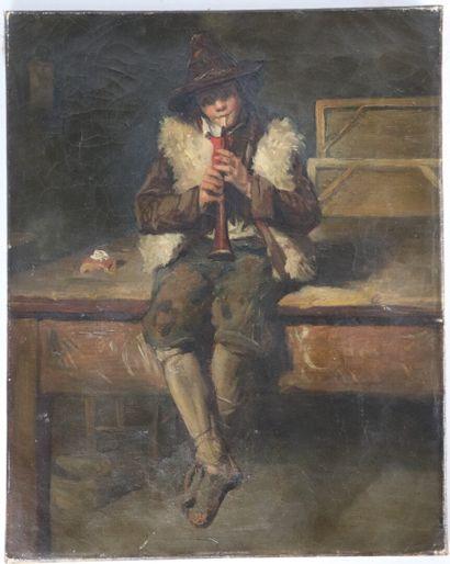 Ecole française du XIXème siècle.  Le jeune...