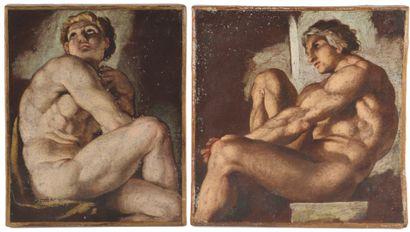 Ecole italienne du XVIIème siècle.  Etudes...