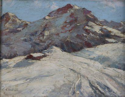 Clément CASTELLI (1870-1959).  Paysage de...